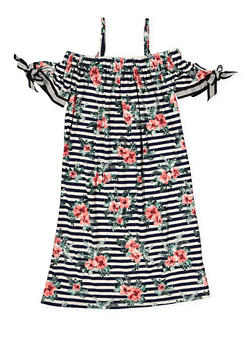 Girls 7-16 Off the Shoulder Floral Dress - 1615051060411