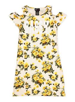 Girls 7-16 Queen Cold Shoulder Floral Dress - 1615051060440