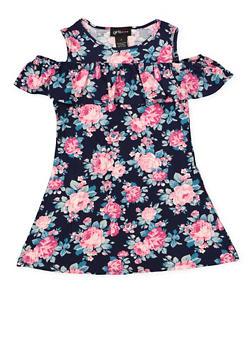 Girls 7-16 Floral Cold Shoulder Shift Dress | 1615051060475 - 1615051060475