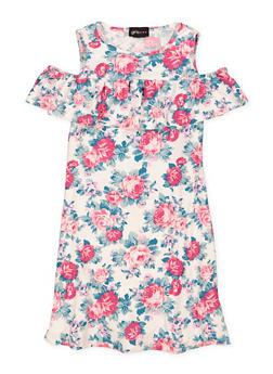 Girls 7-16 Floral Ruffled Skater Dress - 1615051060477