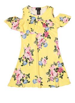 Girls 7-16 Floral Ruffled Shift Dress - 1615051060478