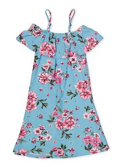 Girls 7-16 Floral Ruffle Shift Dress - 1615051060479
