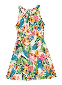 Girls 7-16 Floral Skater Dress - 1615051060482
