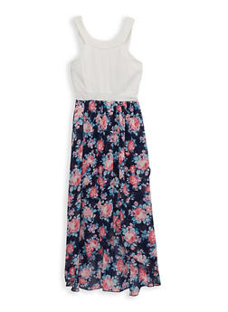 Girls 7-16 Floral High Low Dress - 1615051060512