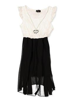 Girls 7-16 Cap Sleeve Skater Dress - 1615051060535