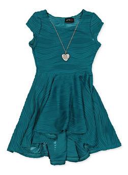 Girls 7-16 Wavy Textured Knit Skater Dress - 1615051060537