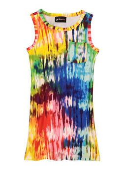 Girls Tie Dye Tank Dress - 1615051060680