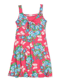 Girls 7-16 Butterfly Floral Skater Dress - 1615054730042