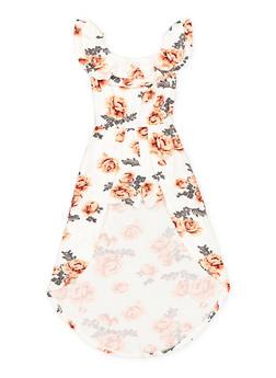 Girls 7-16 Floral Off the Shoulder Maxi Romper - 1615060580055