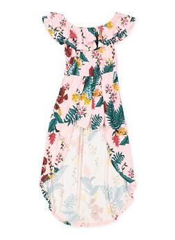 Girls 7-16 Floral Off the Shoulder Maxi Romper - 1615060580056