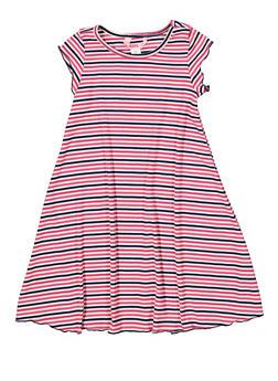 Girls 7-16 Striped Rib Knit Dress - 1615060580061