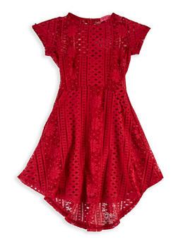 Girls 7-16 Lace Skater Dress - 1615063400024