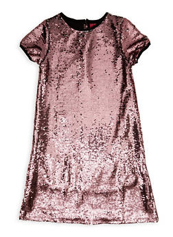 Girls 7-16 Reversible Sequin Shift Dress - 1615063400100