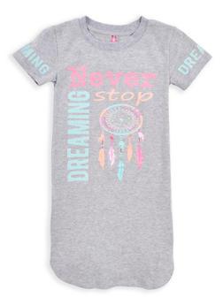 Girls 7-16 Glitter Graphic T Shirt Dress - 1615066590020