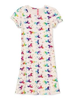 Girls 7-16 Love Magic Unicorn Dress - 1615066590029