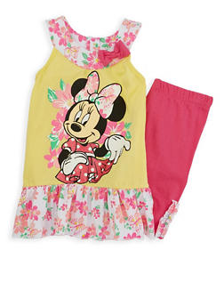 Girls 4-6x Minnie Mouse Graphic Tank Top with Shorts - 1616009290001