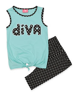 Girls 7-16 Diva Tank Top and Shorts | 1617048370012 - 1617048370012