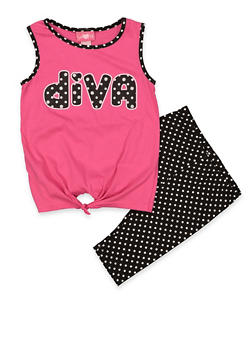 Girls 7-16 Diva Tank Top and Shorts | 1617048370013 - 1617048370013