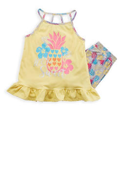 Girls 7-16 Graphic Top with Soft Knit Shorts Set - 1617054730029