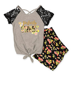 Girls 7-16 Perfectly Sweet Graphic Tee and Shorts Set - 1617054730095