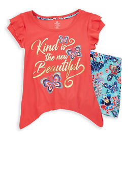Girls 7-16 Graphic Tee with Shorts - 1617061950095