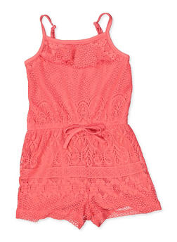 Girls 4-6x Lace Cami Romper - 1618038340140