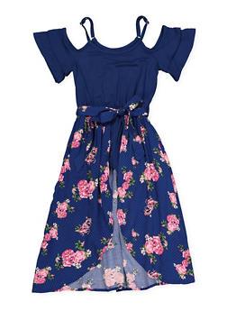 Blue Floral Skirts