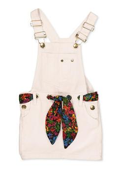 Girls 4-6x Twill Overall Dress - 1618038340197