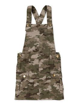 Girls 4-6x Camo Overall Dress - 1618038340201