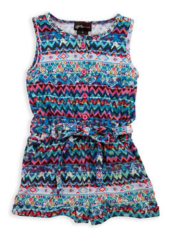 Girls 4-6x Printed Romper - 1618051060048