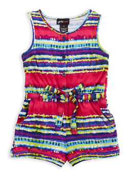 Girls 4-6x Printed Romper - 1618051060049