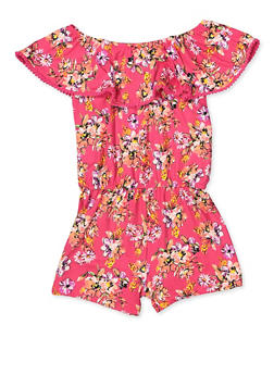 Girls 4-12 Floral Off the Shoulder Romper - 1618054730072