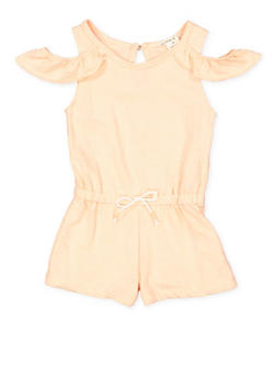 Girls 4-6x Off the Shoulder Romper - 1618061950006