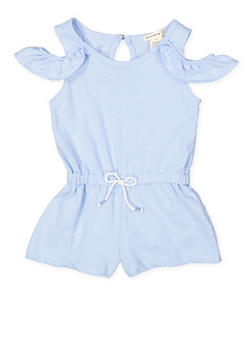 Girls 4-6x Off the Shoulder Romper - 1618061950007
