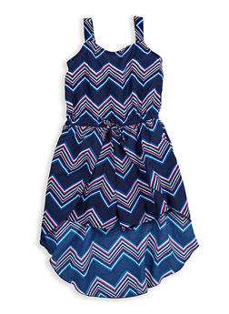 Girls 7-16 Chevron High Low Romper - 1619023130038