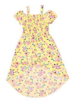 Girls 7-16 Smocked Floral Maxi Romper - 1619023130050