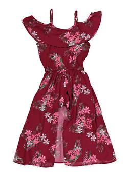 Girls 7-16 Floral Ruffle Maxi Romper - 1619038340180