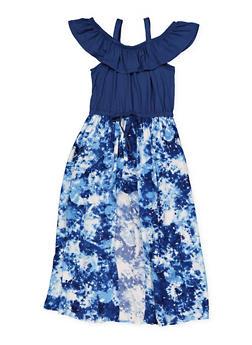 Girls 7-16 Tie Dye Maxi Romper - 1619038340183