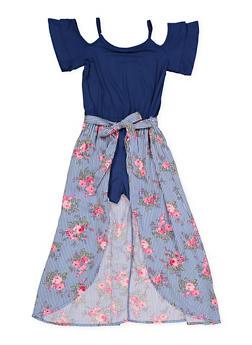 86cd096a2f9 Girls 7-16 Floral Maxi Romper - 1619038340187