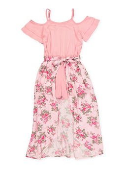 Girls 7-16 Floral Maxi Romper - 1619038340187