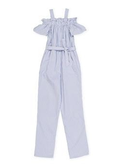 2c8b04b4af Girls 7-16 Striped Off the Shoulder Jumpsuit - 1619051060015