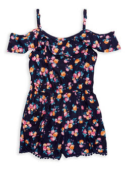 Girls 7-16 Floral Off the Shoulder Romper - 1619051060134