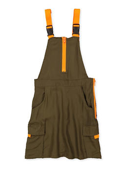 Girls 7-16 Buckle Strap Cargo Overall Dress - 1619051060186