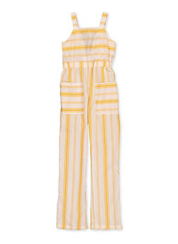 Girls 7-16 Striped Square Neck Jumpsuit - 1619051060210