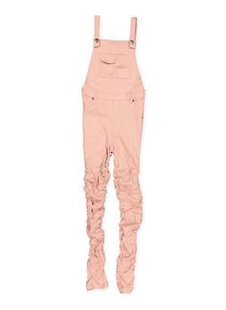Girls 7-16 Ruched Hyperstretch Overalls - 1619056570001