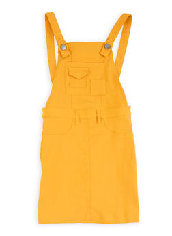 Girls Solid Hyperstretch Overall Dress - 1619056570017