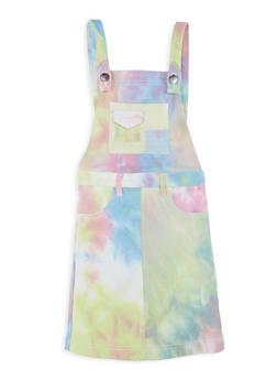Girls Hyperstretch Tie Dye Pattern Overall Dress - 1619056570018