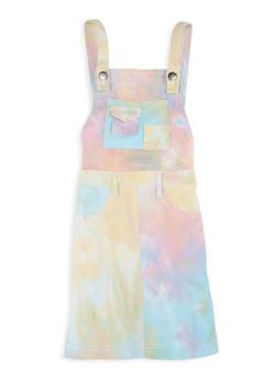 Girls Pastel Tie Dye Pattern Hyperstretch Overall Dress - 1619056570024