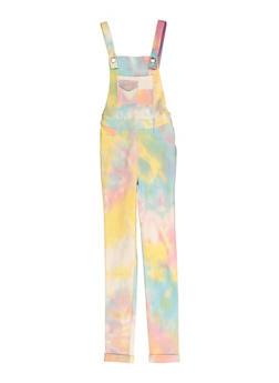 Girls Tie Dye Hyperstretch Overalls - 1619056570028