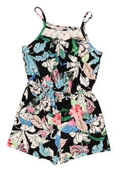 Girls 7-16 Floral Crochet Detail Romper - 1619060580024